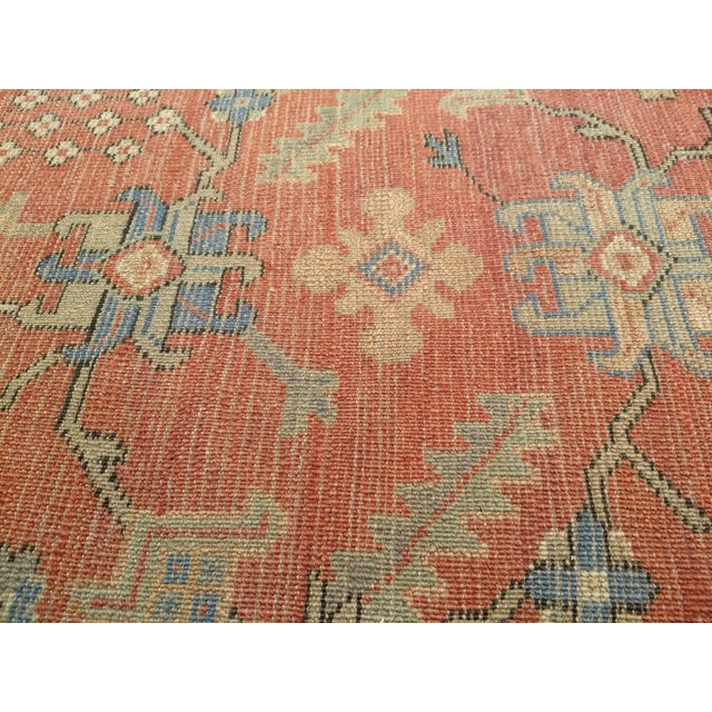 """Late 1800s Turkish Oushak Runner- 3' 5"""" X 14' 5"""" For Sale - Image 10 of 13"""