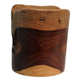 Two-Tone Wood Orchid Pot For Sale