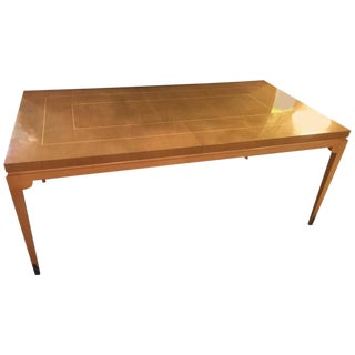 Parzinger Originals Bleached Mahogany Dining Table For Sale