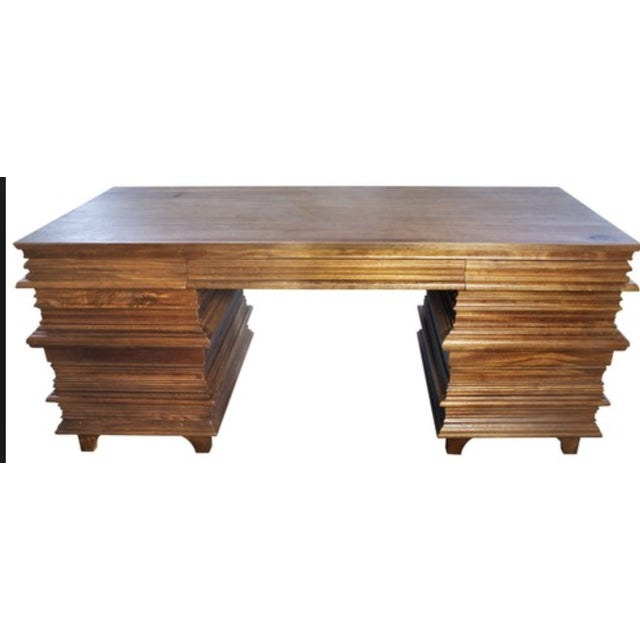 Noir Walnut Bernard Desk - Image 2 of 3
