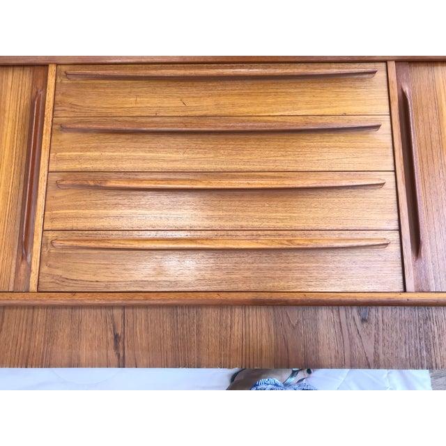 Bernhard Pedersen & Son Bernhard Pedersen Mid-Century Danish Teak Credenza Dresser Plinth Tambour For Sale - Image 4 of 10