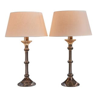 Ingo Maurer Pair of Table Lamps for Val-Saint-Lambert, 1969 For Sale