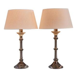 Ingo Maurer Pair of Table Lamps for Val-Saint-Lambert, 1969