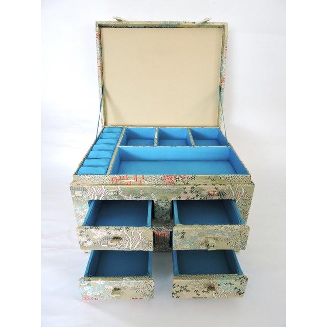 Oriental Brocade Jewelry Box - Image 3 of 5