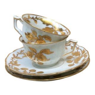 Antique European Porcelain Tea Cups - a Pair For Sale