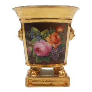 Porcelain Bulb Pot by Darte Frères, Paris For Sale
