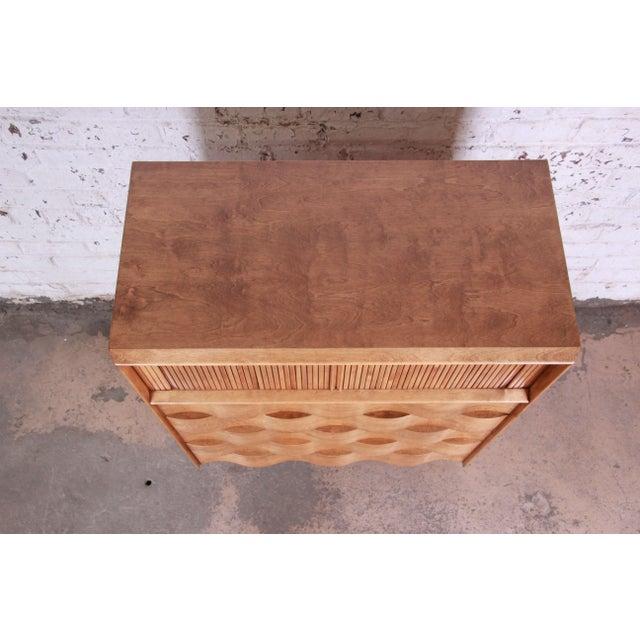 Brown Edmond Spence Wave Front Highboy Dresser For Sale - Image 8 of 13