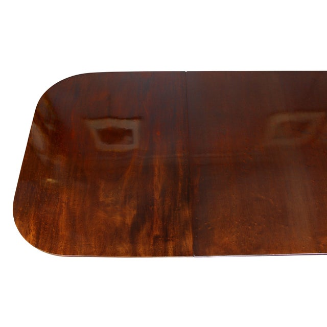 Regency Mahogany Three Pedestal Dining Table For Sale In Boston - Image 6 of 13
