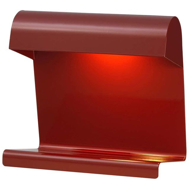 Jean Prouvé 'Lampe de Bureau' Table Lamp in Red for Vitra. Jean Prouvé created the Lampe de Bureau in 1930 as part of the...