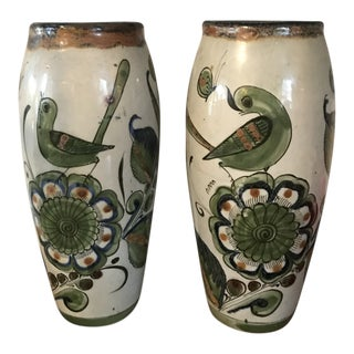 1970s Boho Chic Ken Edwards Tall Vases - a Pair For Sale