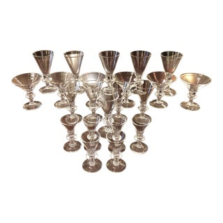 Stueben Crystal Stemware - 22 Piece Set