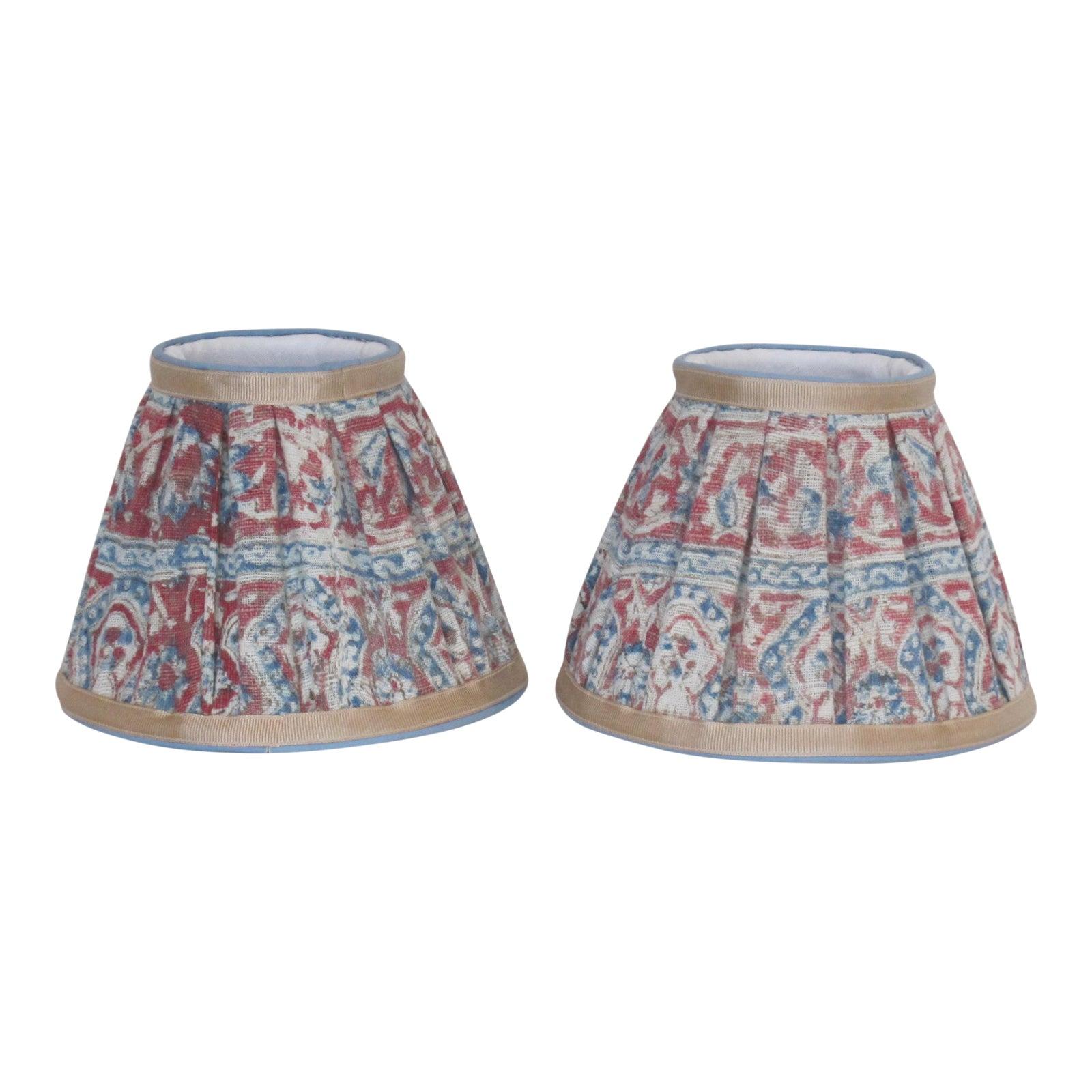 Hand made paisley lampshades a pair chairish aloadofball Gallery