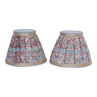 Hand Made Paisley Lampshades - a Pair