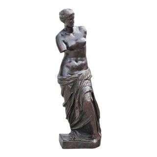 19th Century Classical Italian Fonderia Chiurazzi Venus De Milo Goddess Patinaed Bronze Statue For Sale