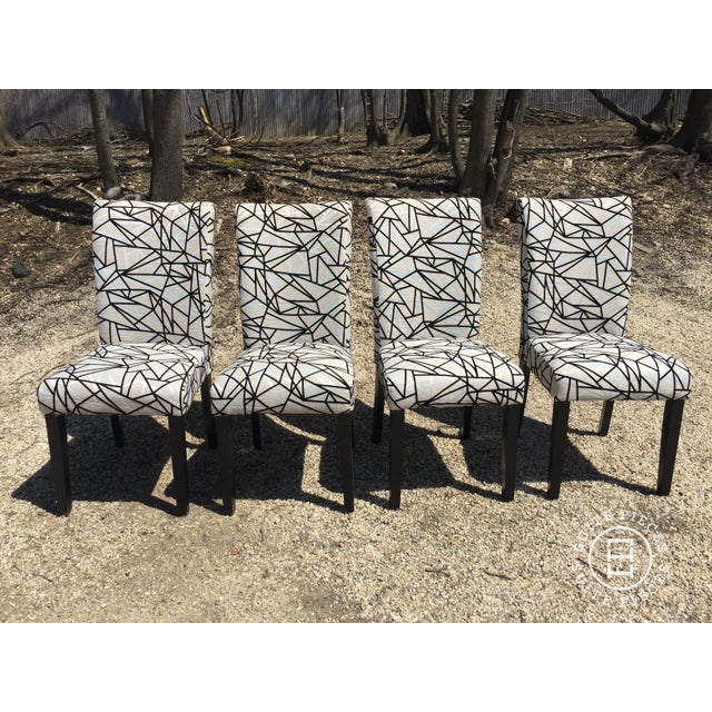 Modern Rolled-Back Dining Chairs - A Pair - Image 2 of 4