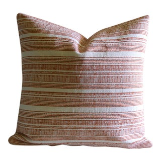 Orange Hemp Hmong Pillow