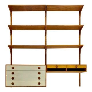 Mid-Century Teak Wall Unit by Thygesen & Sørensen for Hg Furniture For Sale