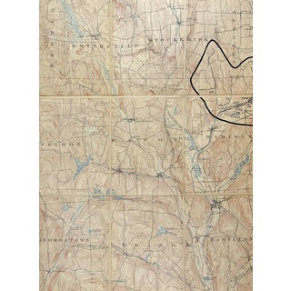 Morrisville, New York 1902 U S Geological Survey Folding Map For Sale