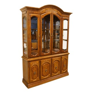 Late 20th Century Italian Neoclassical Buffet With Lighted Display China Cabinet For Sale