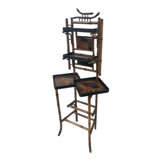 Aesthetic Period Scorched Bamboo Curio Stand