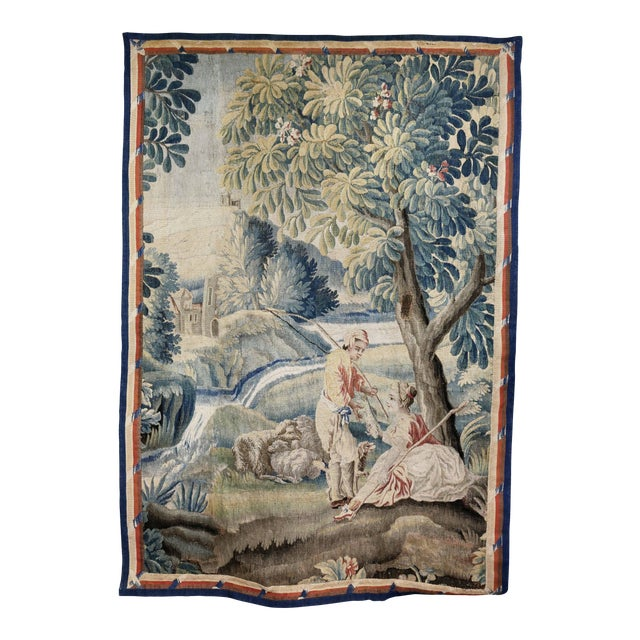 Aubusson Landscape Tapestry For Sale