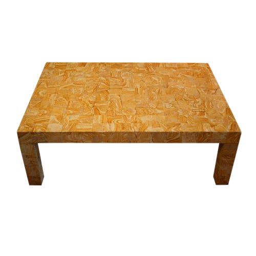 1970s French Cocktail Table Made From Petrified Wood For Sale