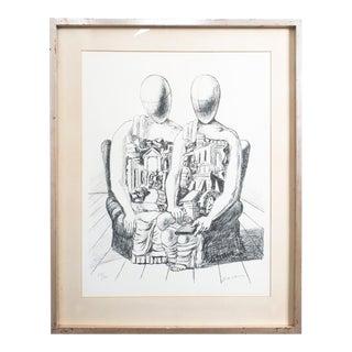 """Giorgio De Chirico Lithograph """"Gli Archeologico"""", 1970 For Sale"""