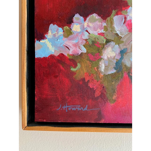 Abstract Pink Bouquet Eucalyptus Painting For Sale - Image 3 of 8