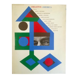 "Rare Vintage 1962 ""Creative America"" Mid Century Modern Collector Cultural Arts Book For Sale"