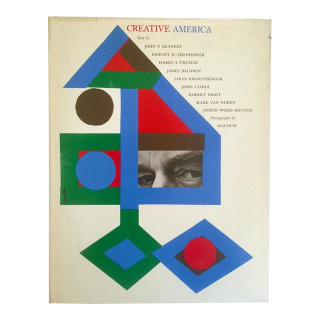 "Vintage 1962 ""Creative America"" Mid Century Modern Collector Cultural Arts Book For Sale"