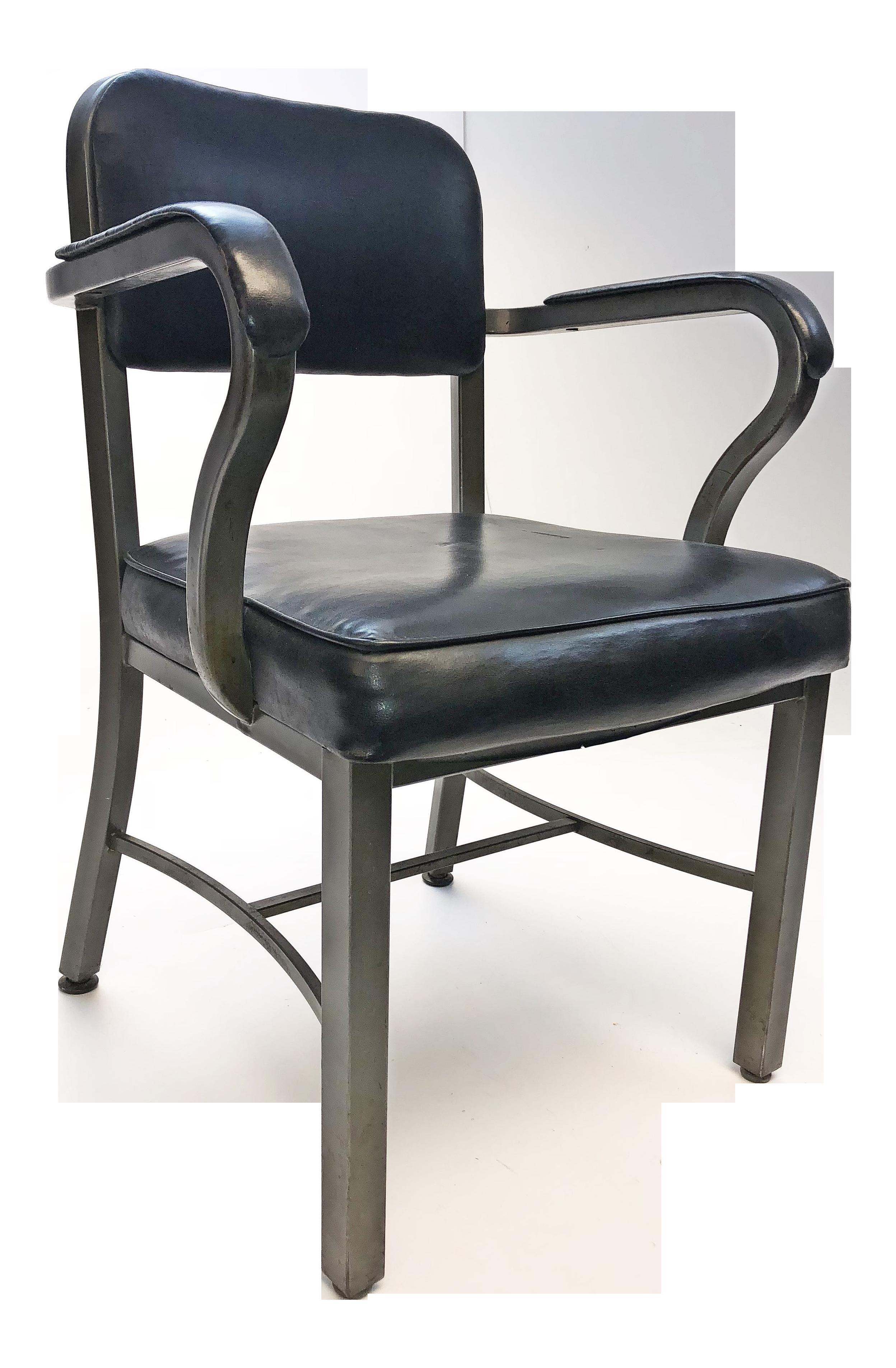 Vintage Metal Office Chair Rolling Vintage Sturgis Posture Co Industrial Black Metal Office Chair Chairish Vintage Sturgis Posture Co Industrial Black Metal Office Chair