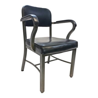 Vintage Sturgis Posture Co Industrial Black Metal Office Chair