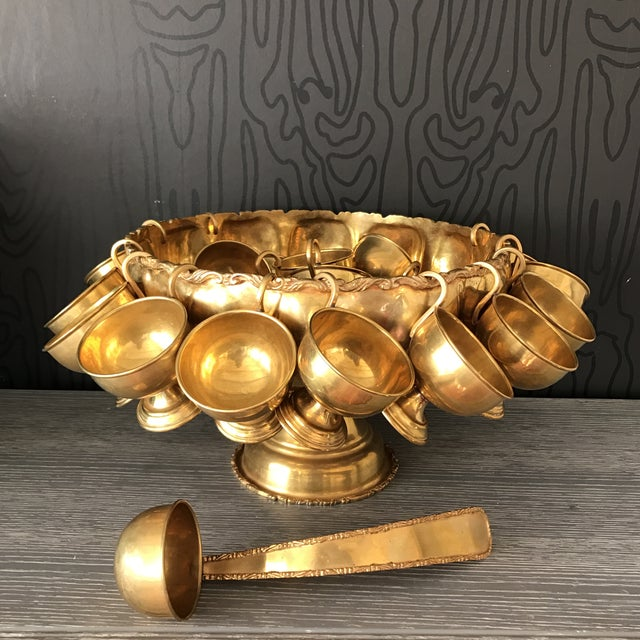 Brass Punchbowl Set - 26 Piece - Image 9 of 11