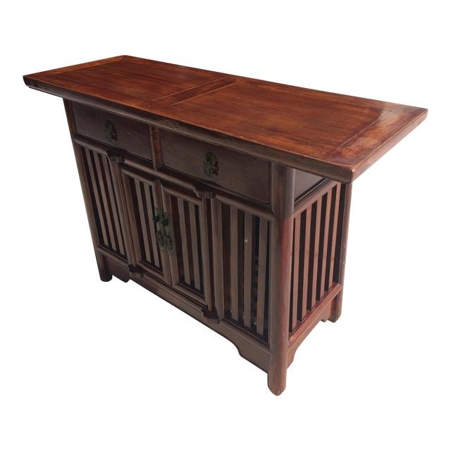 Asian Solid Wood Cabinet - Image 1 of 9