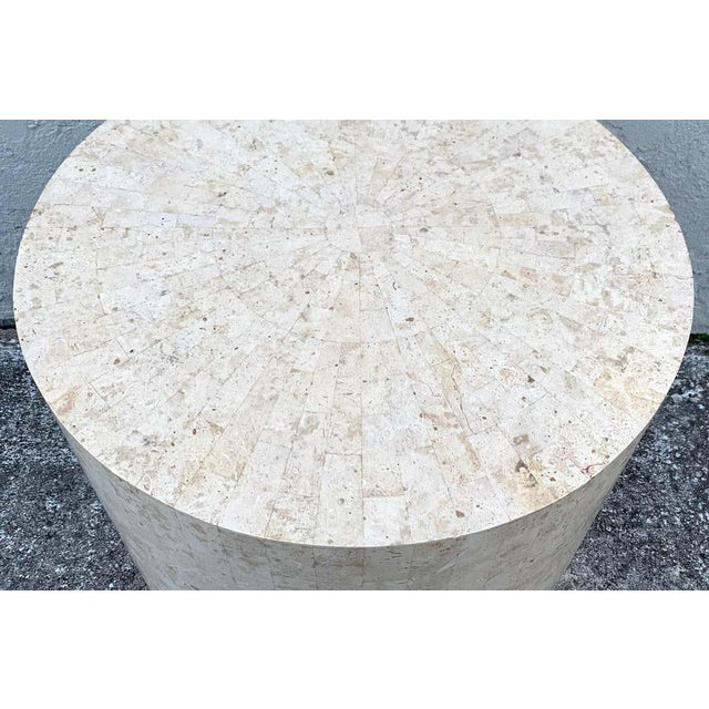 Stone Late 20th Century Modern Tessellated Stone Pedestal by Maitland-Smith For Sale - Image 7 of 8