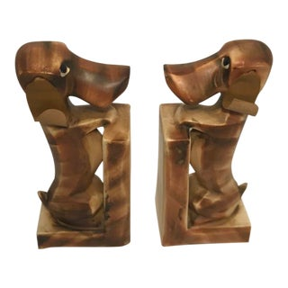 Vintage Mid-Century Hound Bookends - a Pair For Sale