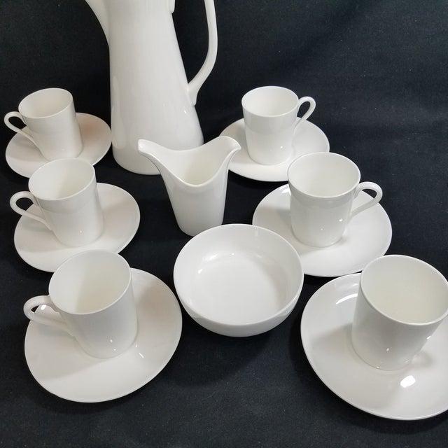 White Gustavsberg Stig Lindberg Bone China Espresso Set For Sale - Image 8 of 11