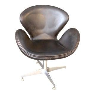 Modern Restoration Hardware Industrial Aviator Devon Swivel Chair For Sale