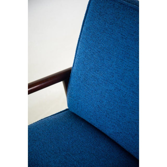 Jens Risom for Knoll Mid-Century Modern Blue Lounge Chair For Sale - Image 10 of 13