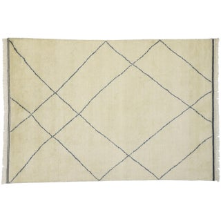 Contemporary Moroccan Modernist Style Area Rug - 6′1″ × 8′8″ For Sale