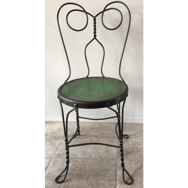 Vintage Bistro Ice Cream Parlor Chairs - Set of 4 For Sale - Image 4 of 11