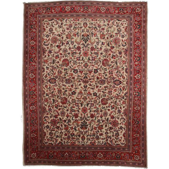"Persian Mahal Rug - 10'1"" x 13'10"" For Sale"