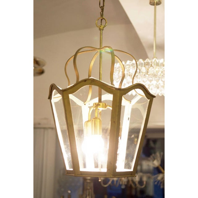 Large Viennese Art Nouveau hanging lamp, 1965 For Sale - Image 5 of 11
