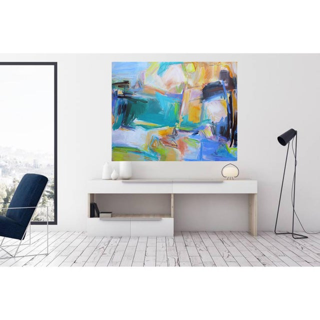 """2010s """"Remembering Bermuda"""" by Trixie Pitts Extra-Large Abstract Oil Painting For Sale - Image 5 of 9"""