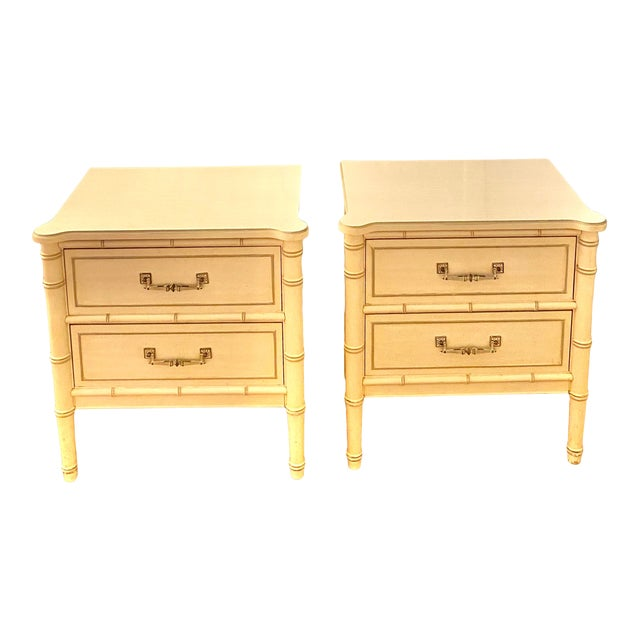 "Henry Link ""Bali Hai"" Two Drawer Nightstands - A Pair For Sale"