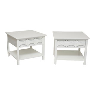Pair of Lacquered End Tables For Sale