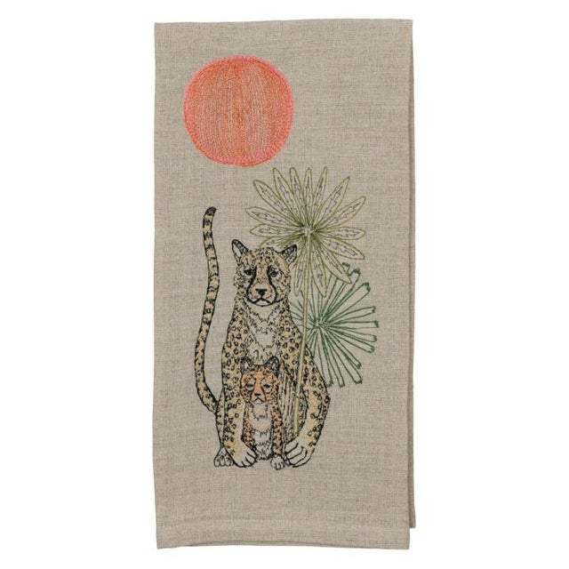 2010s Cheetah Guardian Tea Towel For Sale - Image 5 of 5