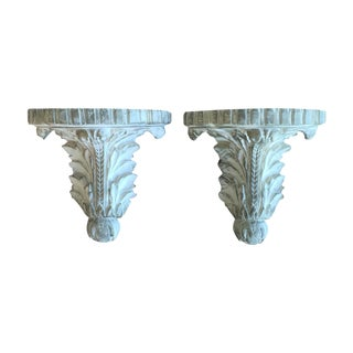Hollywood Regency Rococo Wall Shelves Sconces - 2