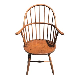 Early American Hoop Back Windsor Chair For Sale