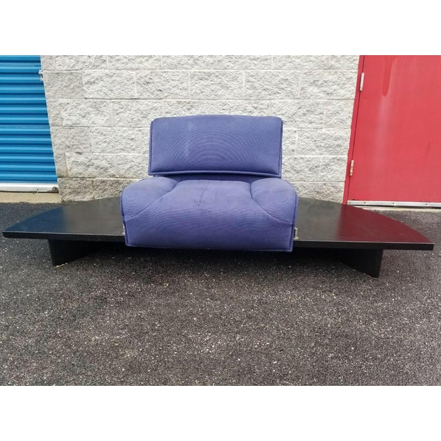 Vintage Mid Century Modern Vico Magistretti for Cassina Blue Three Seat Veranda Sofa- 3 Pieces For Sale - Image 10 of 11
